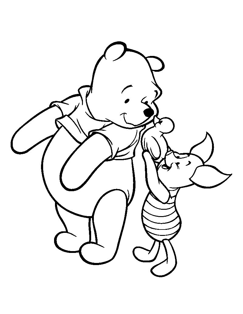 Bathtime Ducky Winnie The Pooh Coloring Pages