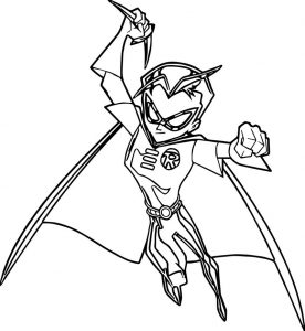 Batman amp robin coloring page
