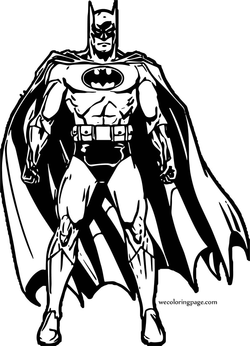 Batman Front Power Coloring Page