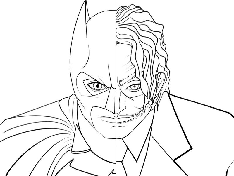 Batman joker coloring pages 001