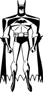 Batman little pose coloring page