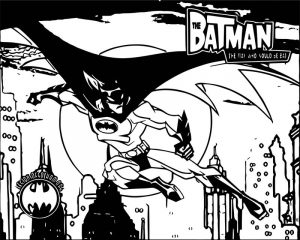 Batman moon city coloring page