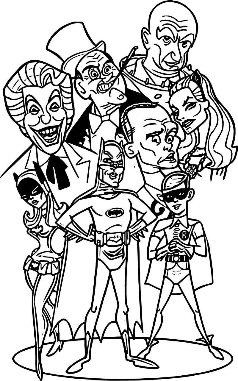 Batman Tv Series Coloring Page