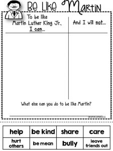 Be like martin worksheet