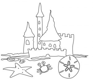 Beach coloring pages adults printable