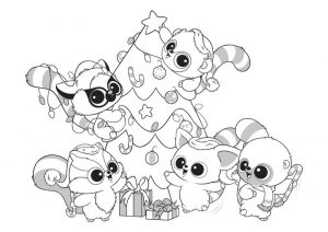 Beanie boo christmas coloring pages