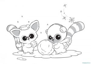 Beanie boo winter coloring pages