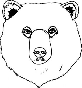 Bear big face coloring page