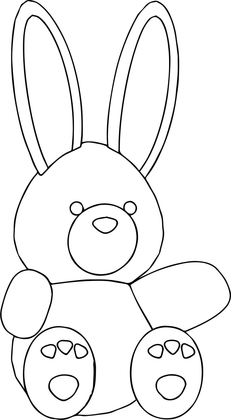 Bear Cartoon Toy Coloring Page