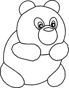 Bear cute cartoon coloring pages