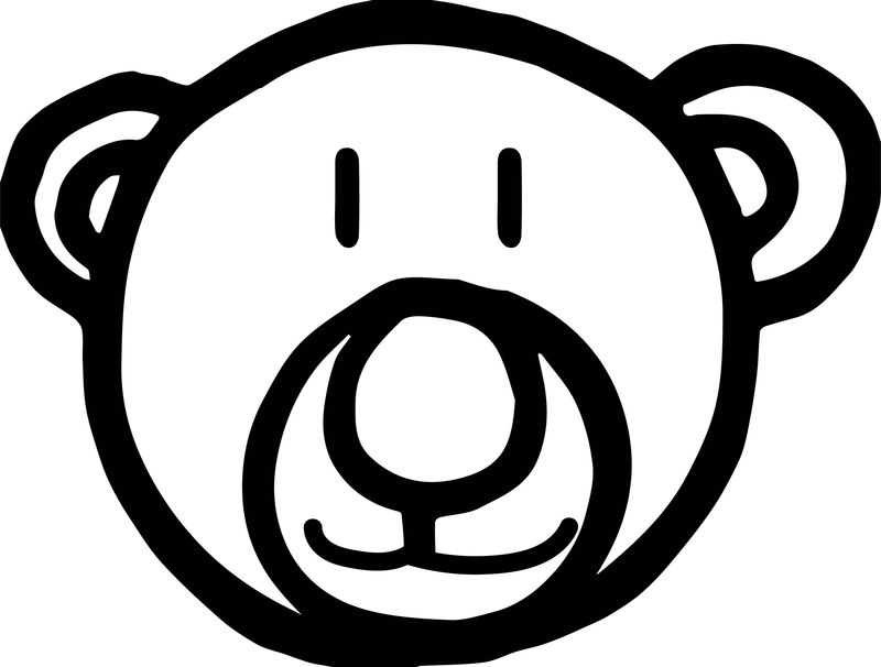 Bear Smile Face Coloring Page