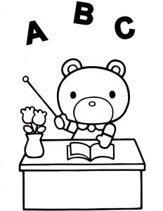 Bear teacher coloring pages