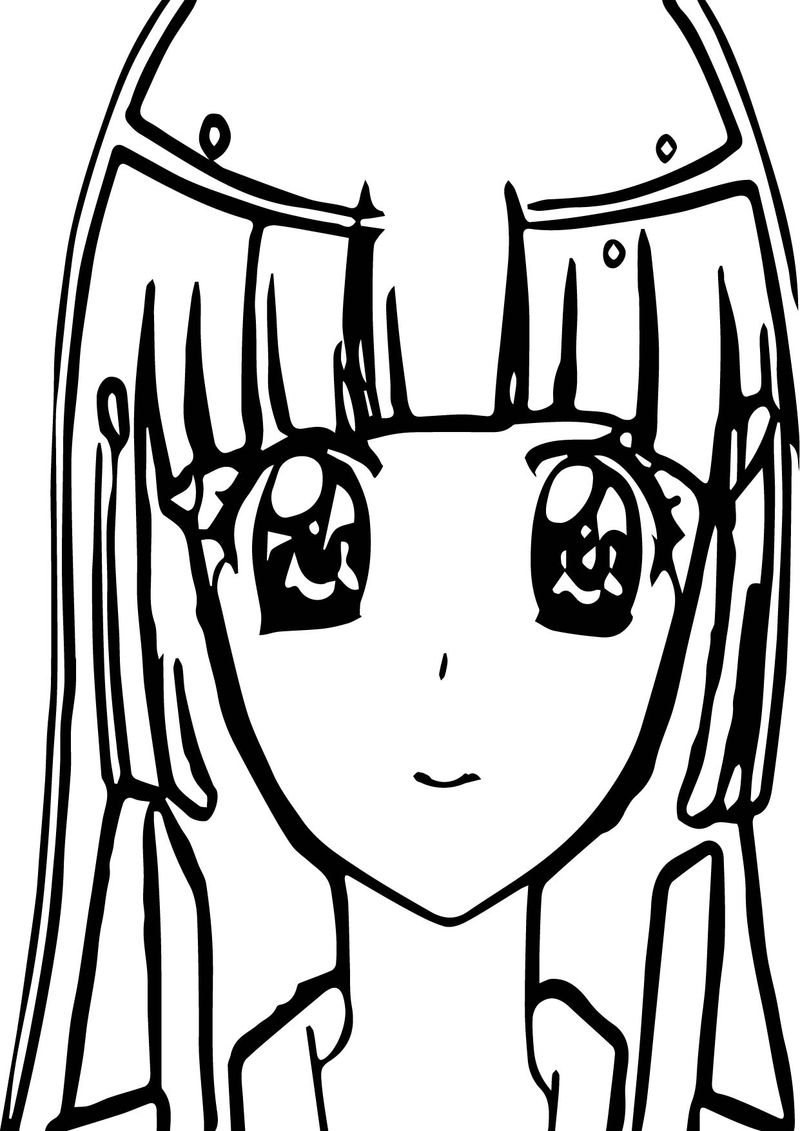 Beautiful Girl Glitter Force Coloring Page