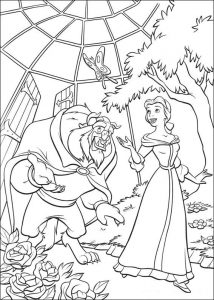 Beauty and the beast coloring pages for kids