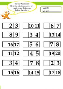 Before and after number worksheets for kids 001