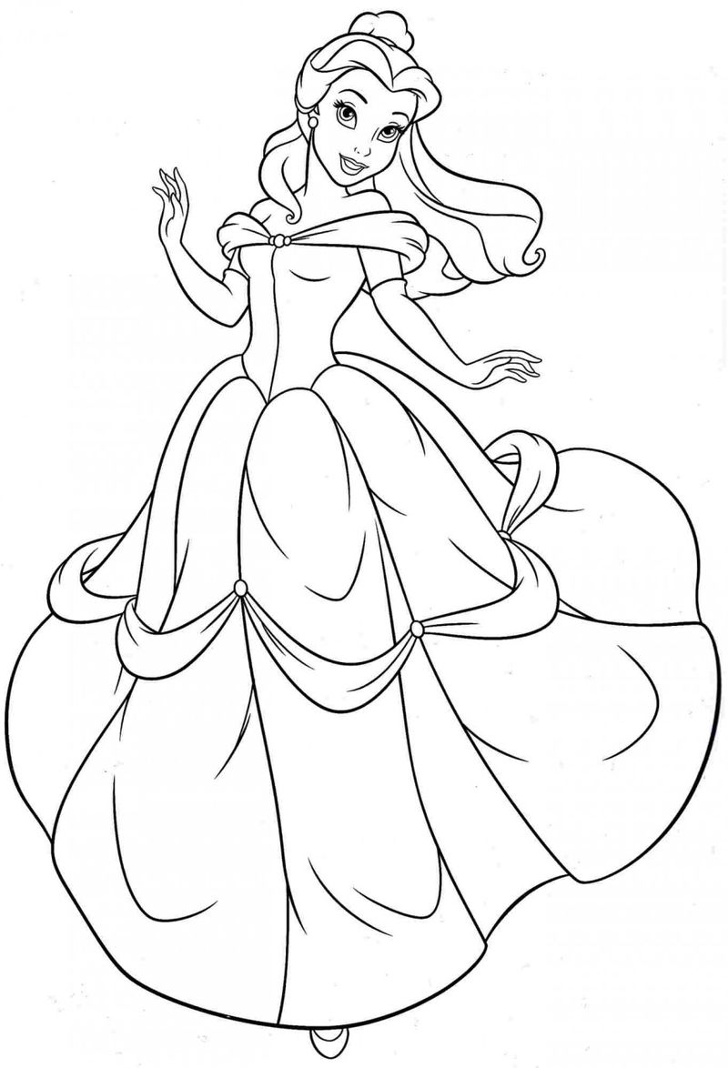 Belle Princess Coloring Pages 001