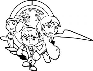Ben 10 alien force cartoon coloring page