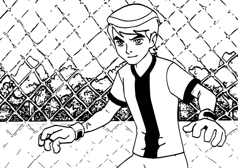 Ben 10 Alien Force Play Soccer Football Coloring Page ...