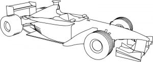 Benetton formula race car coloring page