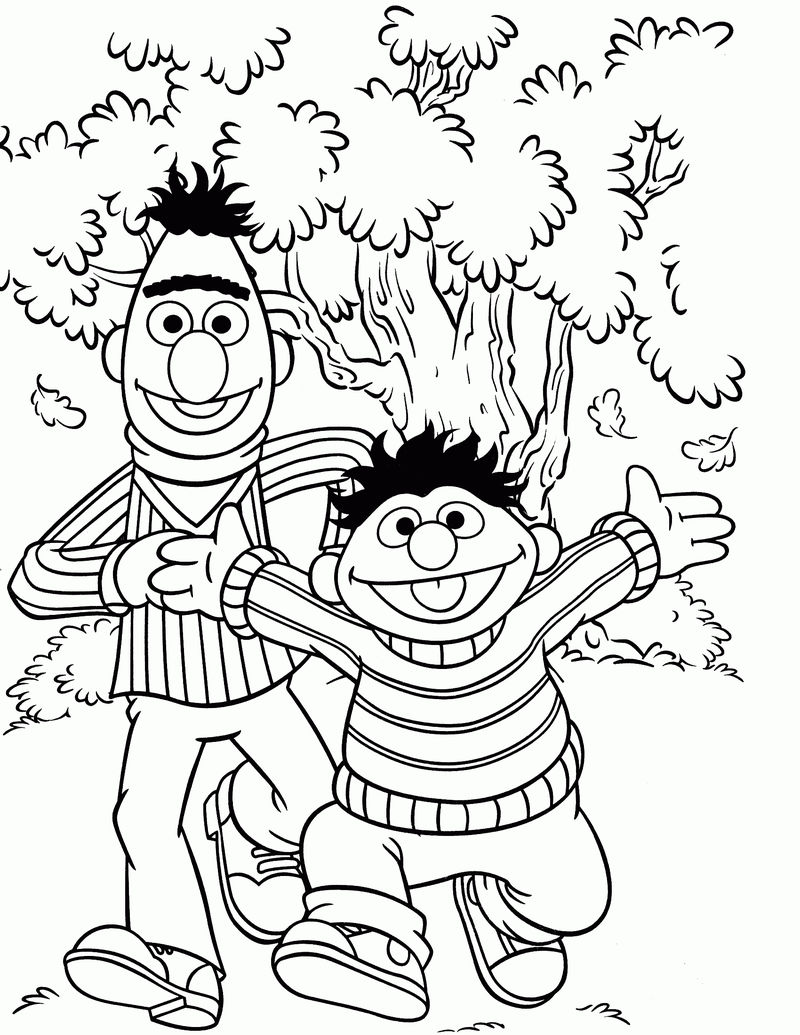 Bert And Ernie Sesame Street Coloring Pages