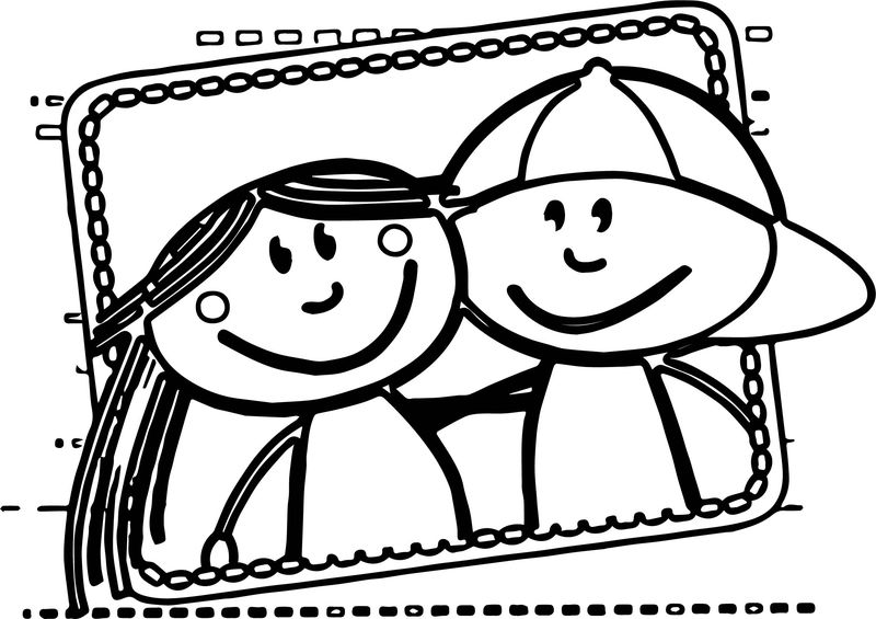 Best Friends Boy And Girl Coloring Page 001
