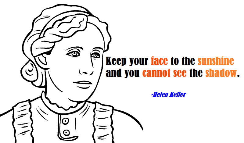 Best Helen Keller And Her Quotes Coloring Page