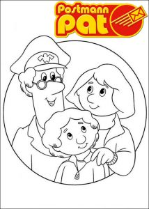 Best postman pat coloring page for family 1
