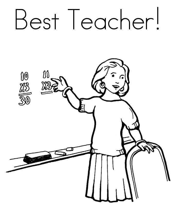 Best Teacher Coloring Pages