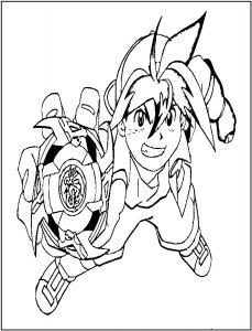 Beyblade coloring pages for kids
