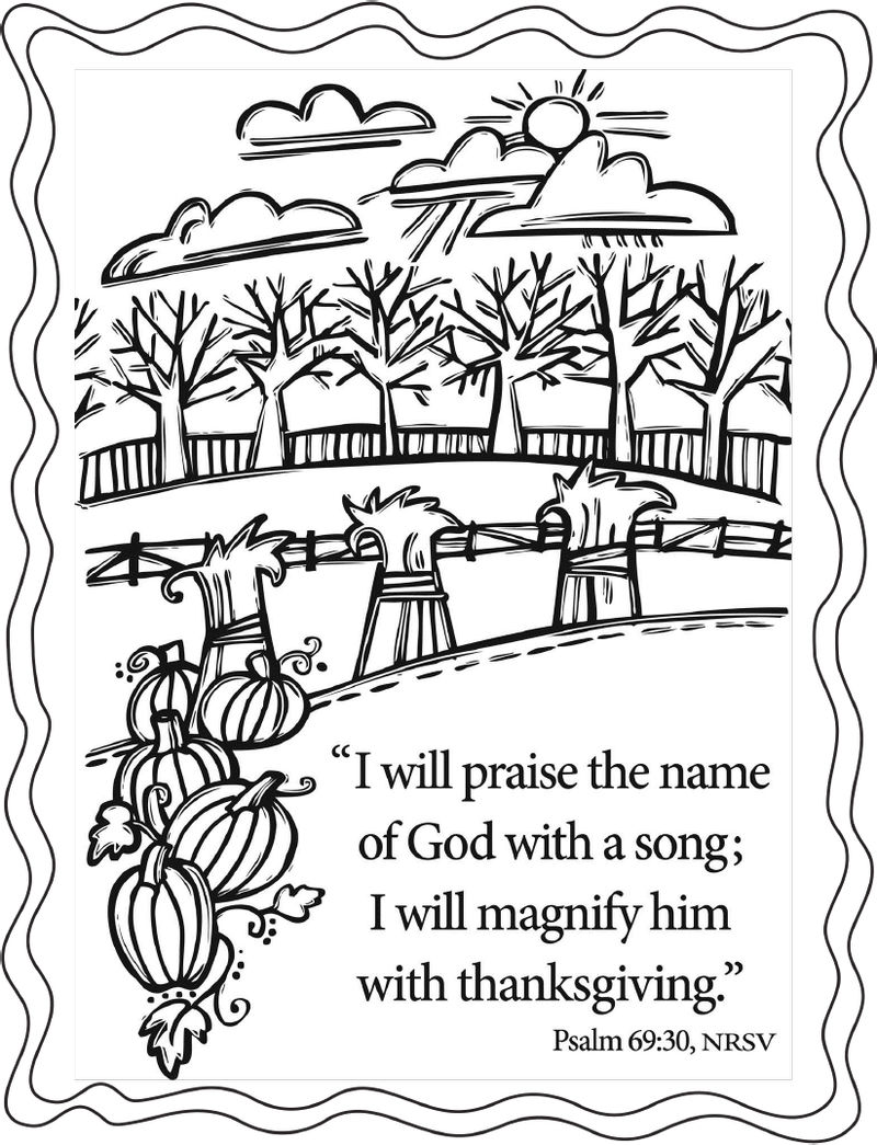 Bible Coloring Pages Psalms