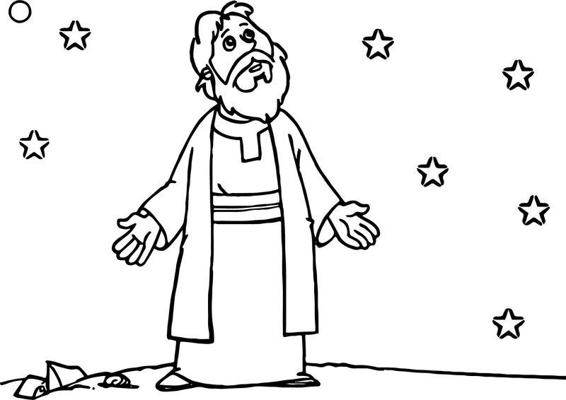 Biblical Abraham And Sarah Night Coloring Page