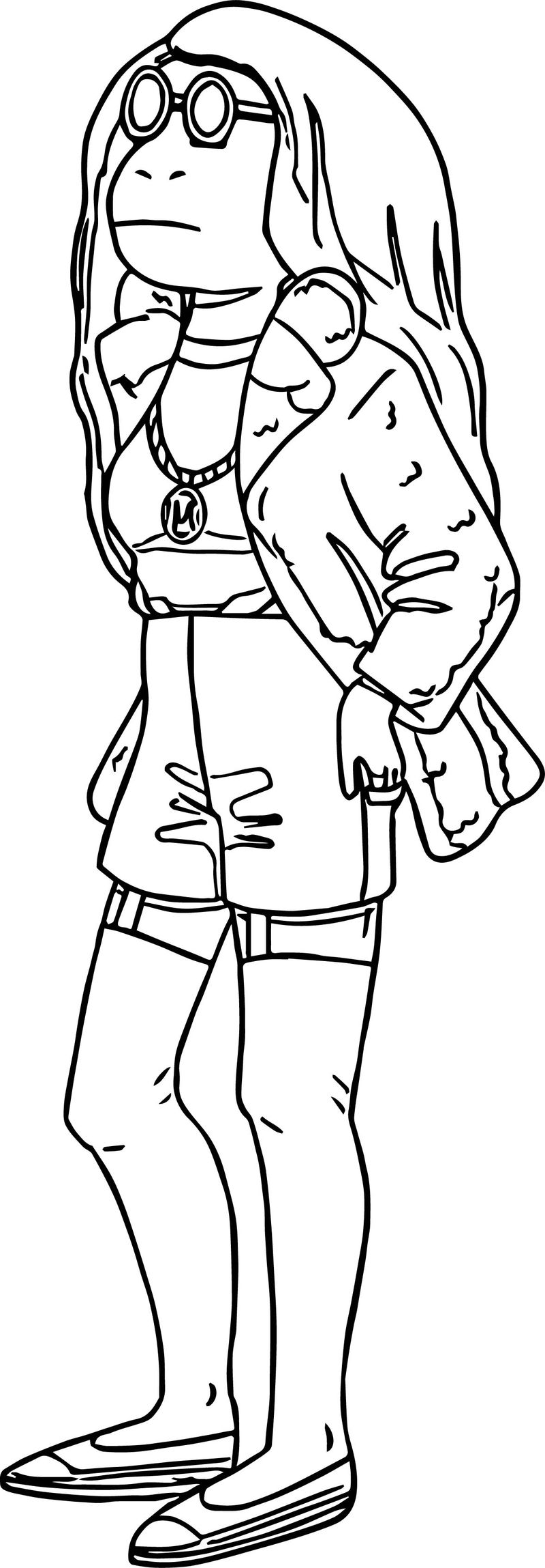 Big Arthur Girlfriend Coloring Page