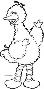 Big bird sesame street coloring page