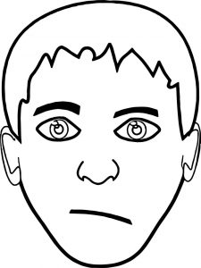 Big boy face coloring pages