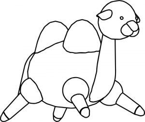 Big camel cartoon coloring page 1