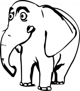 Big elephant coloring pages