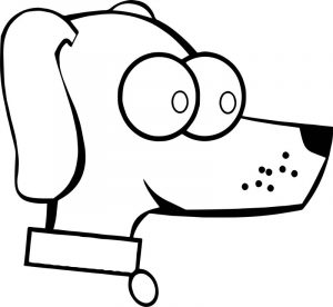 Big face puppy dog coloring page