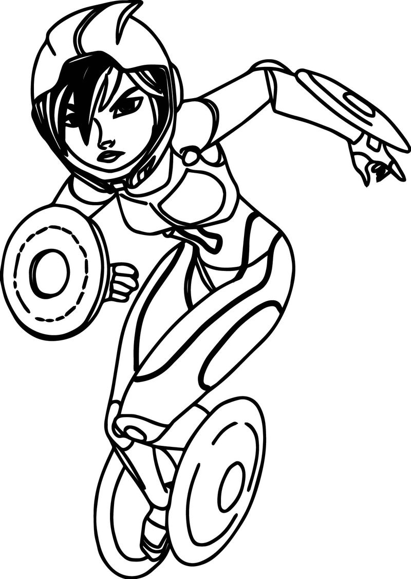 Big Hero 6 Characters Gogo Tomago Coloring Page