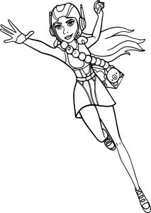 Big hero 6 characters honey lemon coloring page
