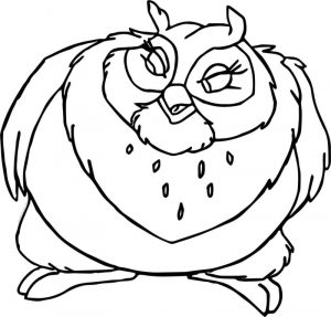 Big mama bird coloring page