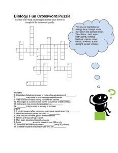 Biology classes crossword fun 001