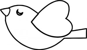 Birdlove wing fly coloring page