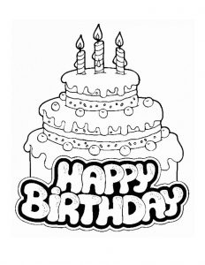 Birthday cake coloring pages printable 001