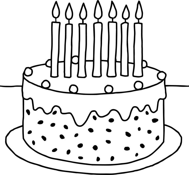 Birthday Cake Kindergarten Coloring Pages