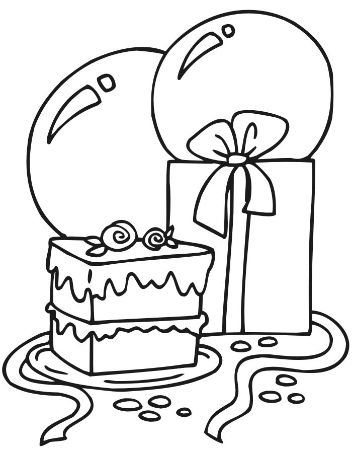 Birthday Presents Coloring Pages 001