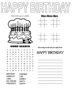 Birthday word search complete