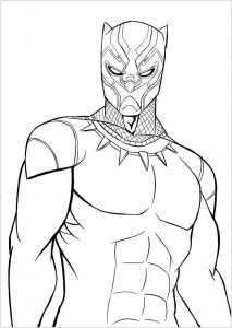 Black panther movie coloring page