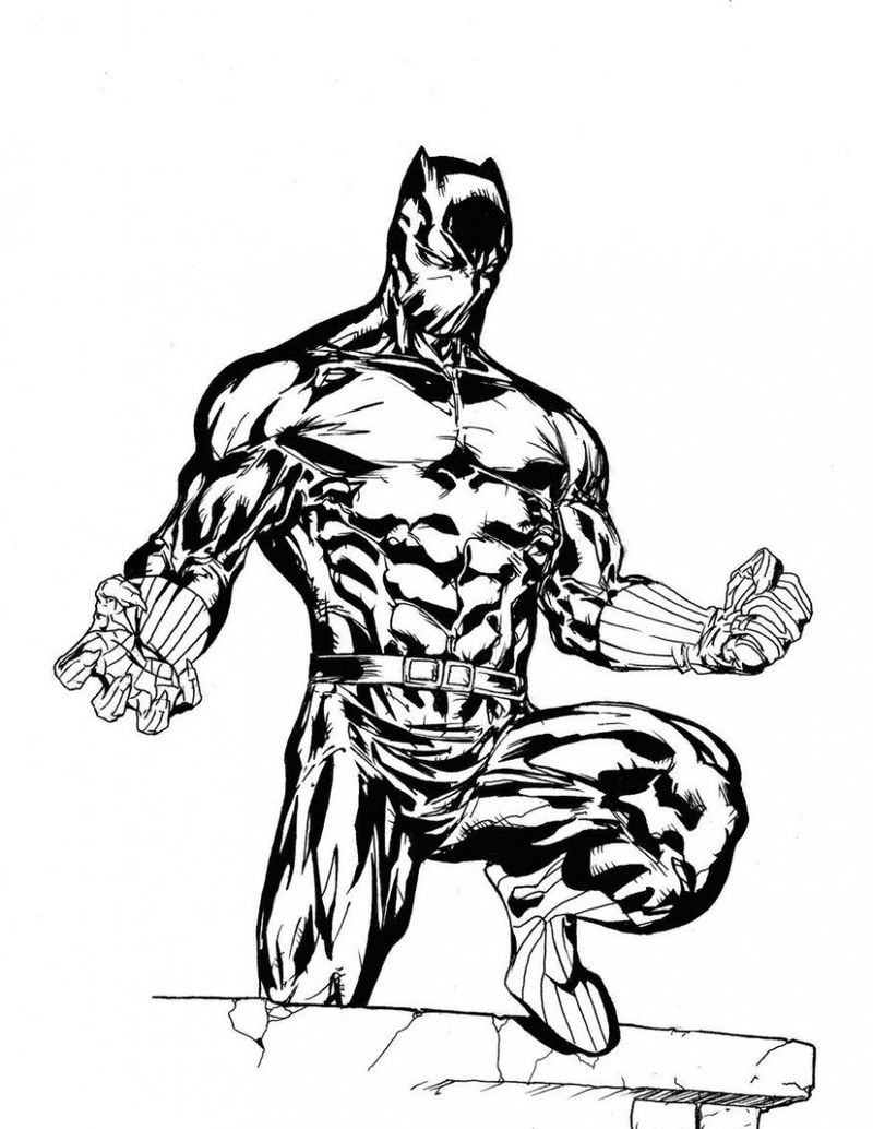 Black Panther Pages To Color
