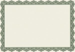 Blank certificate templates border 001