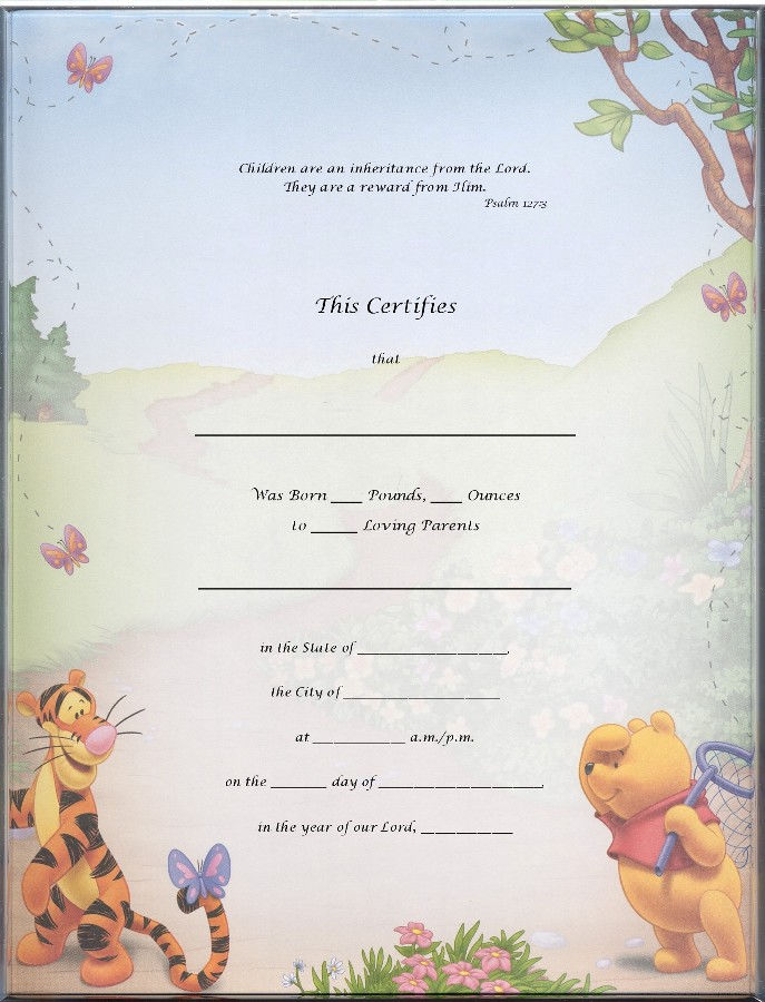 Blank Certificate Templates For Kids 001